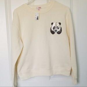 NWT Bongo Juniors Panda Sweater